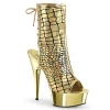 DELIGHT-1018HG - Gold Hologram Ostrich Faux Leather
